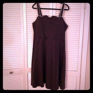 🌸NEW🌸EUC VTG Brown pinup style midi dress